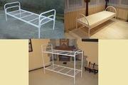 Кровати односпальные,  двухъярусные. Металлическая кровать.