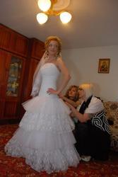 Продам свадебное платье и перчатки